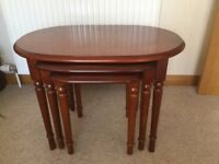 Solid Wood Nest Of Tables - £40