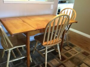 Hardwood table and chairs