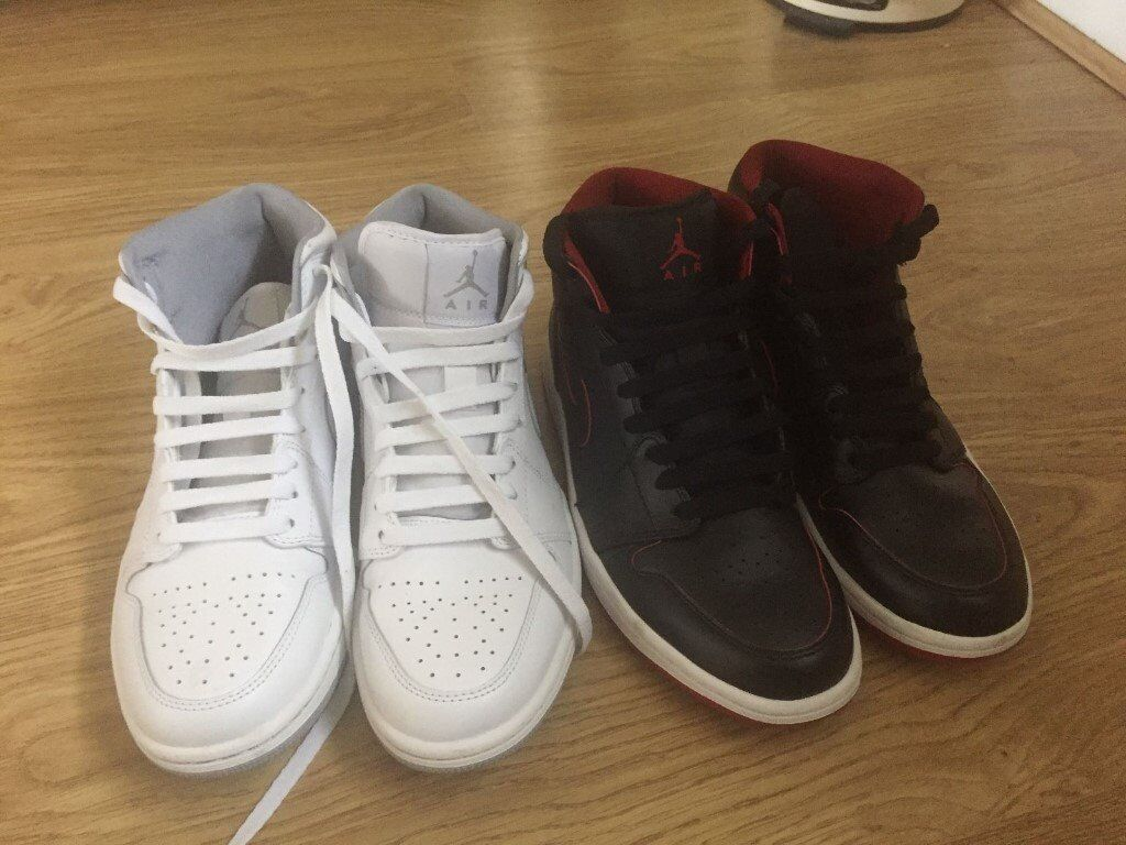 17eb4e85c7f903 2 Pairs of Nike Air Jordans (size 7) (White and Black)