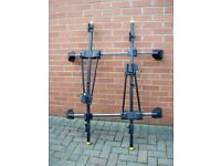 Roof bars plus cycle carriers
