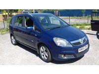 Vauxhall Zafira 2005 CDi diesel low mileage 12 months mot