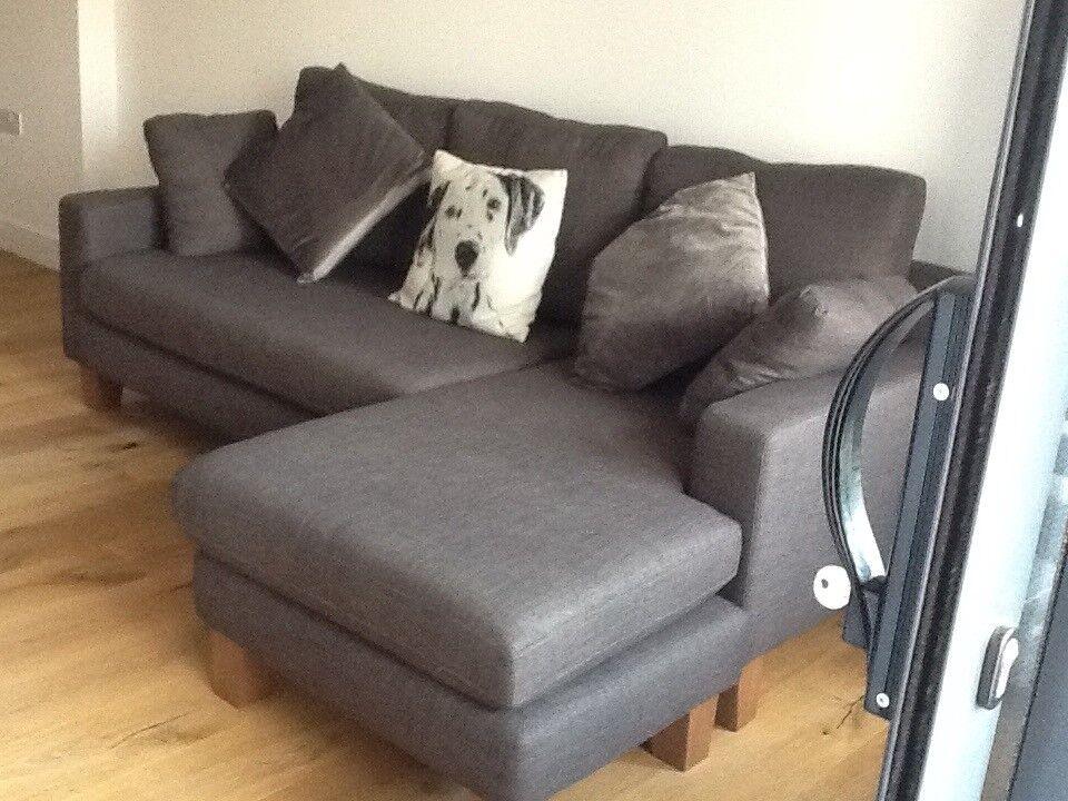 dwell ankara corner sofa in truffle 2 months old in newbury