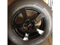 "17"" Dezent alloy wheels C/W tyres"
