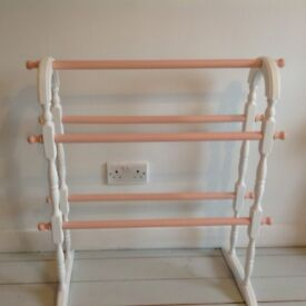 Vintage clothes airer upcycled