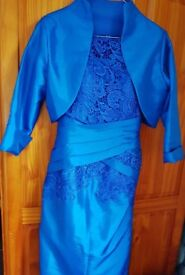 New Cobalt Blue 2 piece Mother of the Bride outfit size 8/10