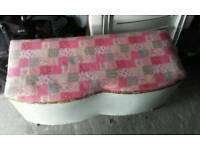 Lloyd Loom style ottoman / blanket box