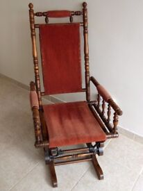 Colonial style rocking chair - platform rocker so will not creep or wear carpet