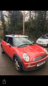 Mini Cooper 1.6, part leather seats fantastic car just too small for us now.