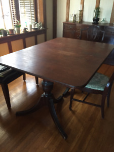 1940's Dining table, sideboard and China Cabinet