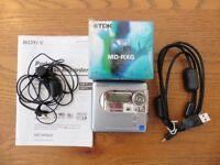 SONY MZ-NH600 MINI DISC PLAYER / RECORDER, PLUS 5 MINI DISCS 80 MIN SEALED.