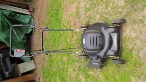 electric lawn mower and gas mower