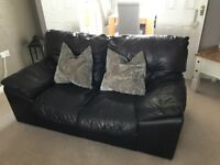 DFS brown leather suite RRP £2000