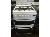 50CM WHITE CANNON GAS COOKER GRILL/OVEN TWIN CAVITY