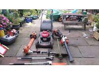 Full set up of gardening eqipment stihl and honda