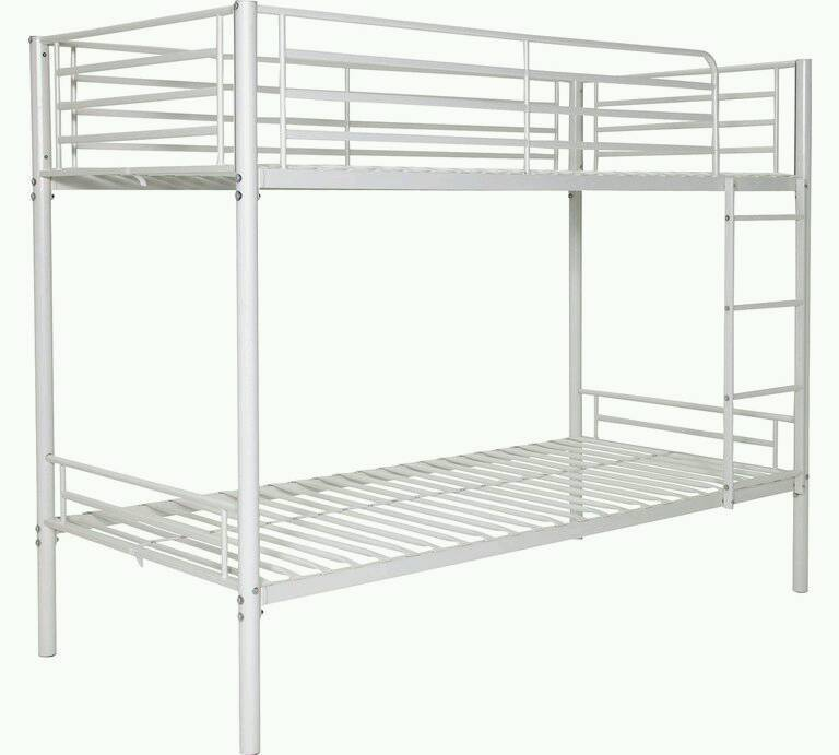 £60 - White metal bunk bed frame - delivery available