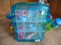 3 Tier Hamster Cage and Carrier Box