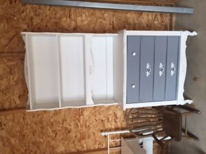 Chest of drawers with shelving