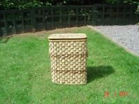 Lined Wicker Laundry Basket / Storage Box. Can Deliver.