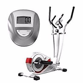 We R Sports Premium Elliptical Cross Trainer and Exercise Bike Fitness Cardio Workout - Grey