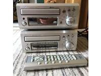 Denon CD player and cassette deck