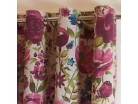Dunelm - Misty Meadow Eyelet Curtains [90 Inches x 90 Inches] [228cm x 228cm]
