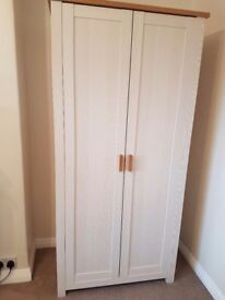 ARGOS HEART OF HOUSE WILTSHIRE 2 DOOR WARDROBE SIZE H185 × W89 × D52cm