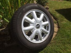 BMW MINI WHEEL AND ALMOST NEW TYRE