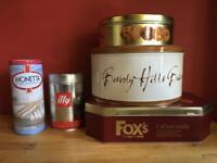 Various tins
