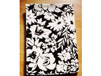 Next New Single Black Duvet Cover with White Floral Patterns.