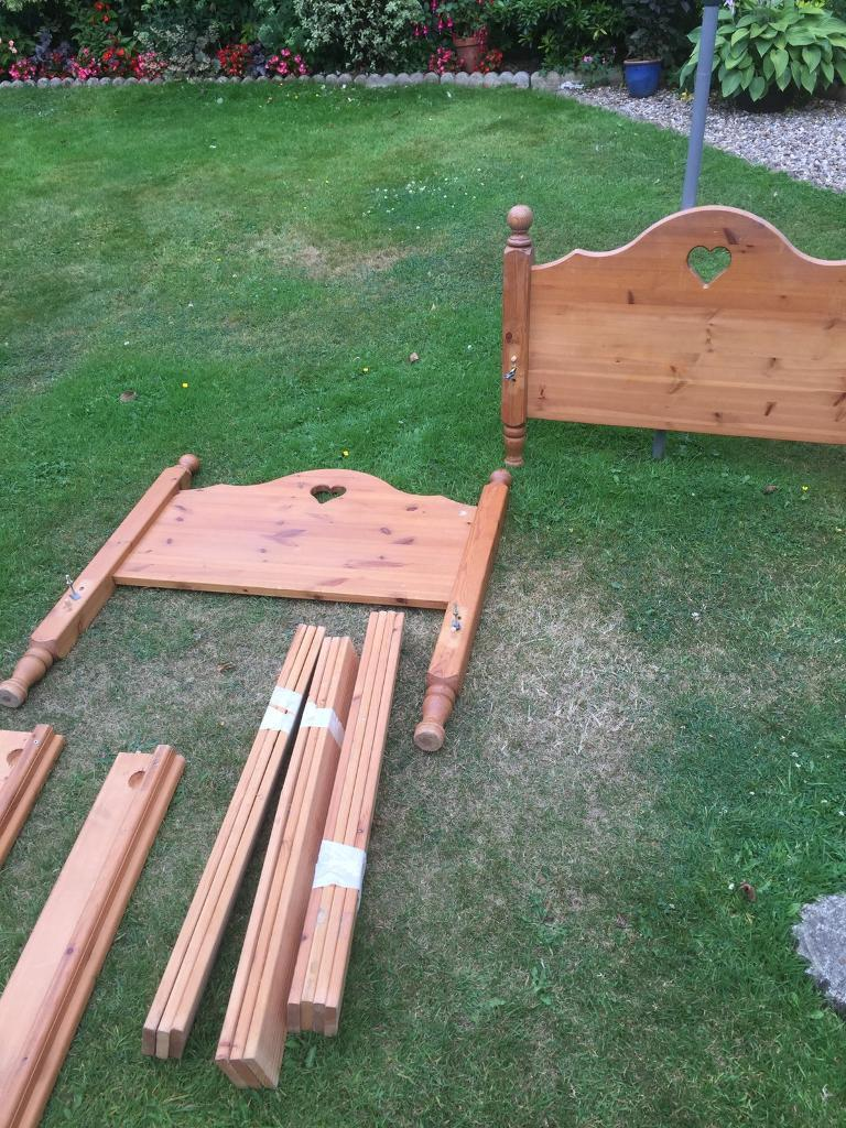 LOVELY Wood Love heart framein Taverham, NorfolkGumtree - Lovely made, quality wood not cheap pine like some. Lovely to suit a little girl, love heart on bed frame. I have the slates and main fixings thanks Read less