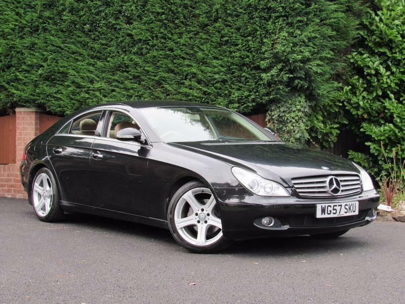 mercedes cls cls320 cdi 2007 diesel black cream leather automatic in kidderminster. Black Bedroom Furniture Sets. Home Design Ideas