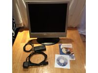 """Viewsonic 17"""" LCD monitor VG712S, built in speakers, DVI input"""