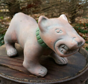 50's Mexican folk art / tourist / terracotta / clay/ pottery dog
