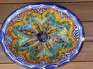 Handpainted Mexican sink