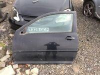 2003 VW GOLF MK4 NSF PASSENGER SIDE FRONT DOOR IN BLACK