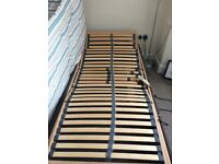 Single electric bed & matress, full working order, lifts from top & bottom, very good condition