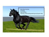BLACK BESS DOG WALKING/GARDENING/CLEANING/EQUINE HELP