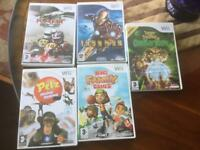 Five Nintendo Wii games see picture job lot