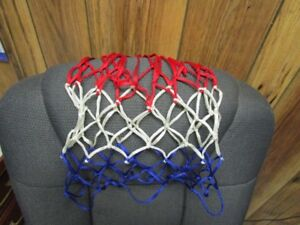 Basketball net nylon red, white and blue