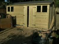 20ft by 10ft tanaslized garden shed