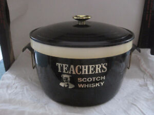 Vintage Teacher's Scotch Whiskey Ice Bucket with Lid
