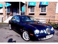 2006 JAGUAR DIESEL S TYPE NAVY BLUE HIGH SPEC..FULL MOT...LOTS OF EXTRA CHROME NICE LOOKING CAR VGC