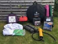 ALMOST COMPLETE FESTIVAL/CAMPING SET including TOTALLY WATERPROOF POP-UP 2 PERSON TENT
