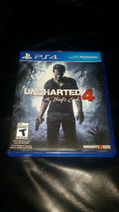 Playstation Uncharted 4 game
