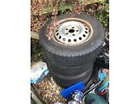4x 5x112 steel wheels with good tyres