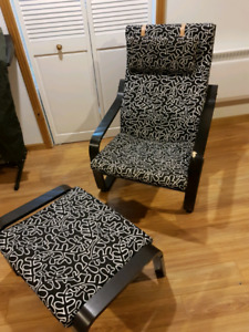 POANG Chair and ottoman from ikea