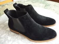 beautiful quality men's brand new black suede size 10 (uk) shoes,very smart and comfortable,only £29