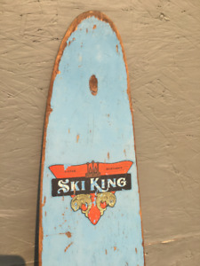 """""""Ski King"""" water skis . Made in Vancouver, BC by Lister Bros Mfg"""