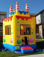 Birthday Cake Bouncy Castle for sale.  $1100