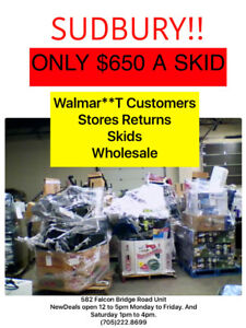 Wholesale Skids Pallets of Merchandise in season, BBq's, mowers